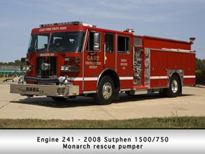 Sutphen pumper Cary FPD