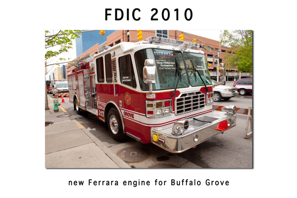 Buffalo Grove Fire Department Ferrara Igniter engine