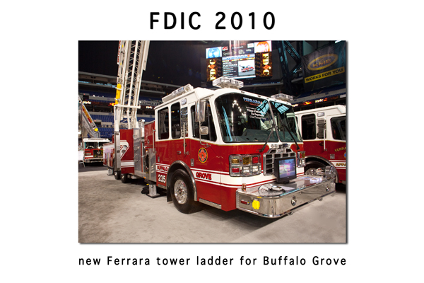 Buffalo Grove Fire Department Ferrara tower ladder