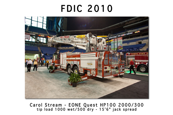 Carol Stream EONE Quest HP100 tower ladder