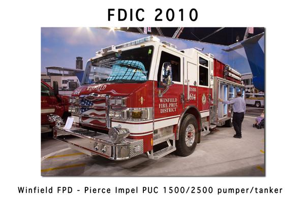 Winfield FPD Pierce Impel Puc pumper tanker