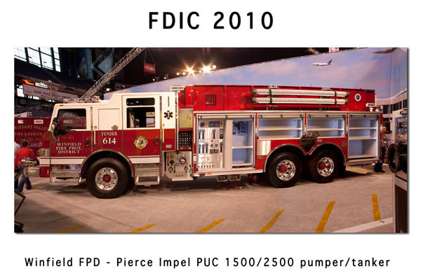 Winfield FPD Pierce Impel Puc pumper tanker