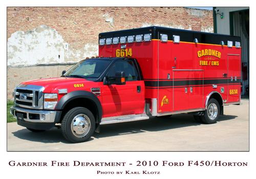Gardner VFD 2010 Ford Horton ambulance
