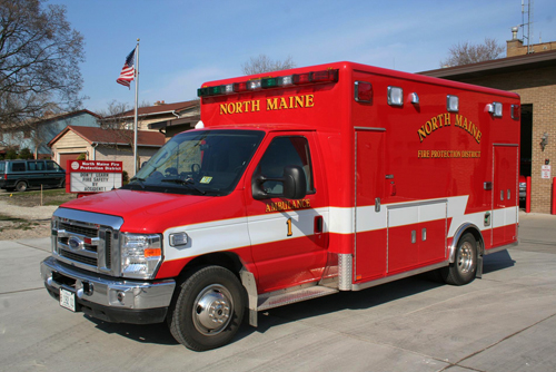 North Maine FPD Ambulance 1 Ford Horotn