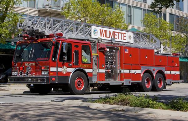Wilmette Fire Department EONE 110' rear mount