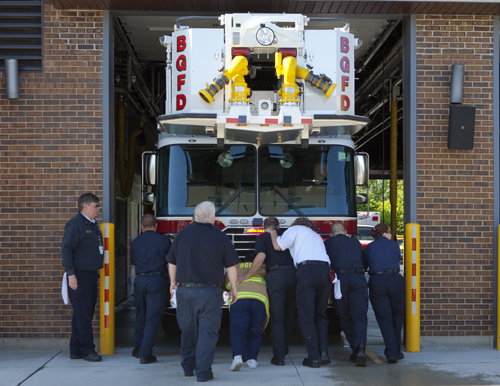 Buffalo Grove Fire Department wet down