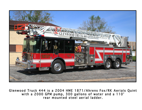 Glenwood Fire Department HME Ahrens Fox quint