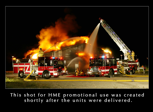 Glenwood FD HME Ahrens Fox warehouse fire