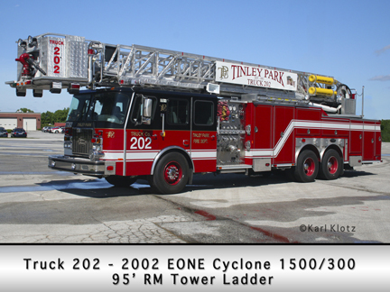 Tinley Park Tower Ladder Truck 202