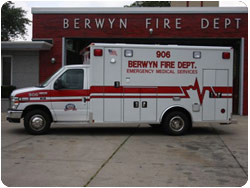 Berwyn FD Wheeled Coach ambulance