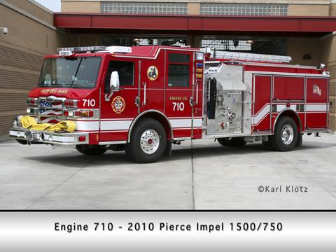 Bedford Park Fire Department Pierce Impel pumper