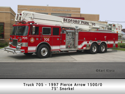 Bedford Park Fire Department Pierce Snorkel