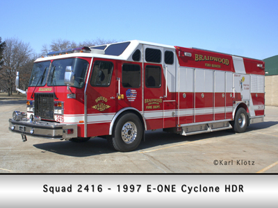 Braidwood FD EONE E-ONE Cyclone heavy rescue