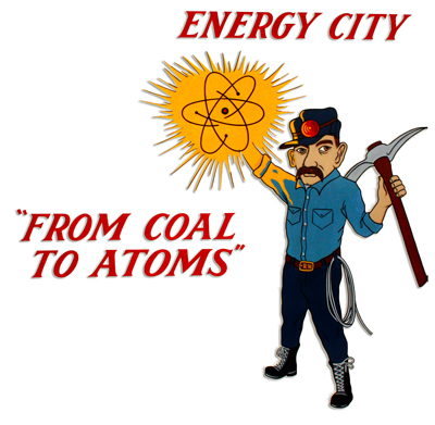 Braidwood 'From coal to atoms' logo