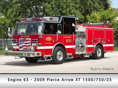 Des Plaines Fire Department Engine 63 Pierce Arrow XT