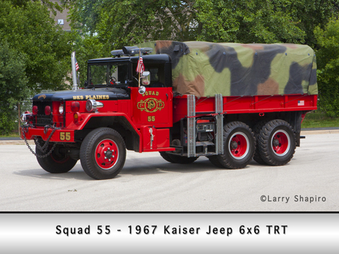 Des Plaines Fire Department squad 55 6x6 Kaiser Jeep