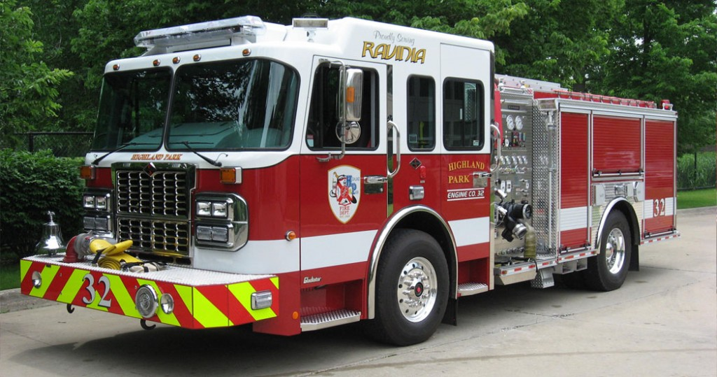 Highland Park FD Spartan Crimson engine