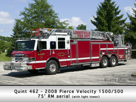 Libertyville Fire Department Quint 462 2008 Pierce Velocity 75' RM quint