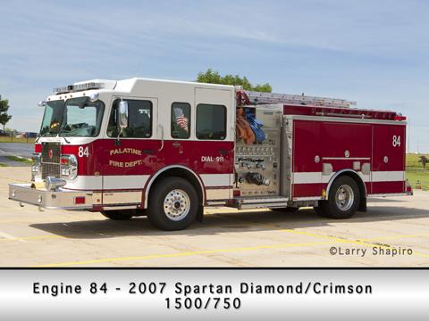 Palatine Fire Department Engine 84 Spartan Crimson