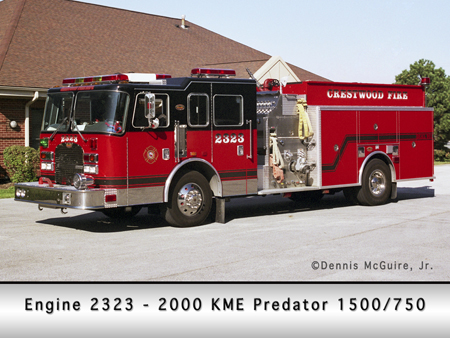 Crestwood Fire Department engine 2323