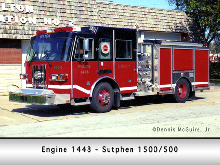 Dolton FIre Department Sutphen pumper