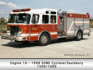 Joliet Fire Department engine 10