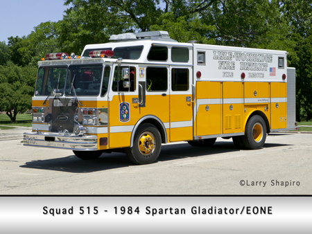 Lisle Woodridge 1984 Spartan Gladiator EONE rescue unit