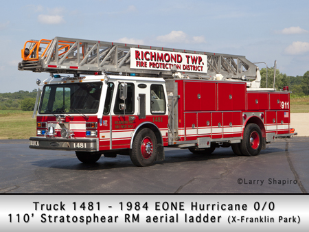 Richmond FPD EONE E-ONE 110' truck X-Franklin Park