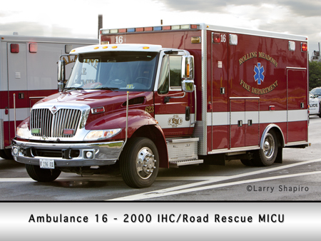 Rolling Meadows Fire Department ambulance 16