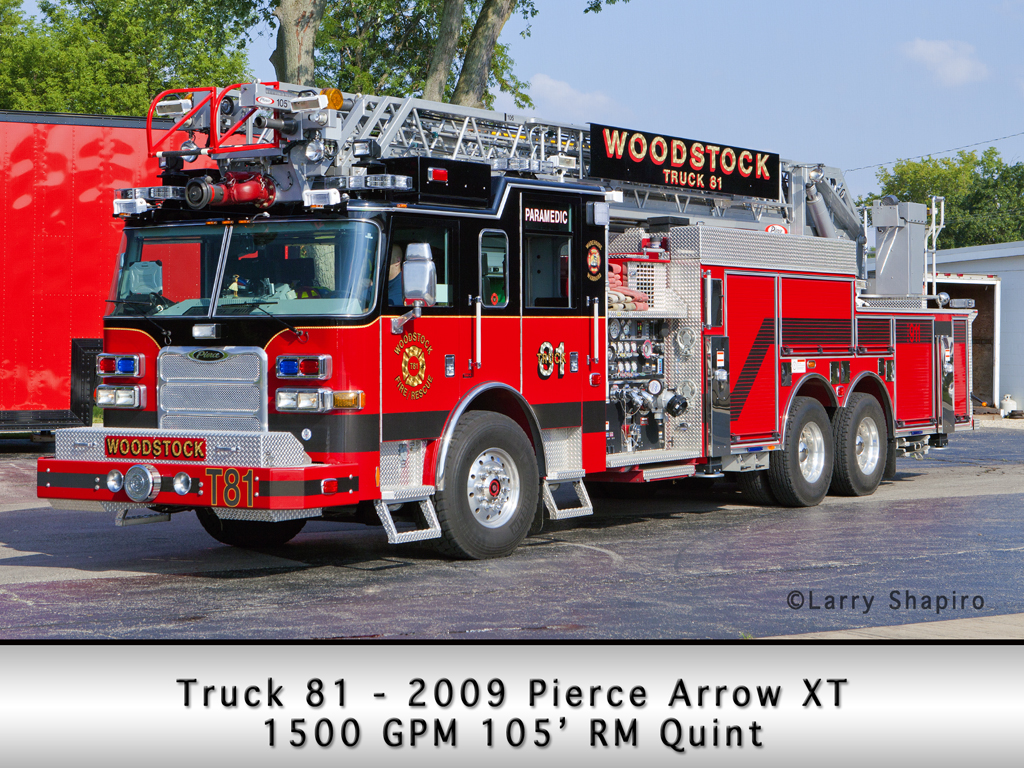 Woodstock Fire District Pierce Arrow XT quint