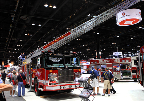 Chicago Fire Department Crimson ladder