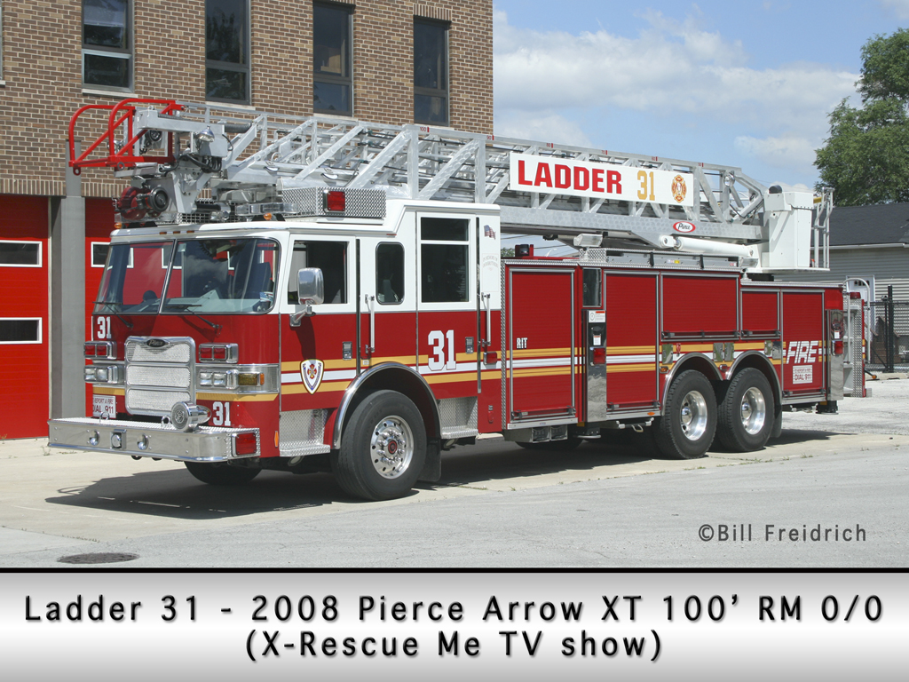 Roberts Park Fire Protection District Pierce Arrow XT ladder 'Rescue Me'
