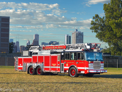 Chicago Fire Department Spartan Crimson aerial ladder