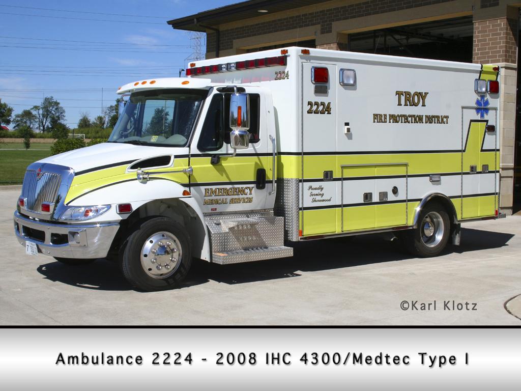 Troy FPD IHC/Medtec ambulance
