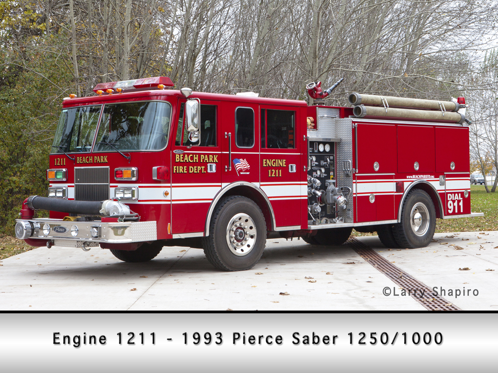 Beach Park Fire Protection District Pierce Saber engine