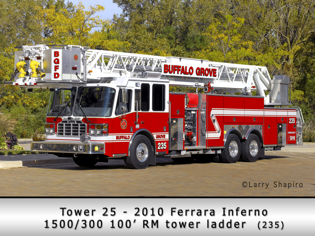 Buffalo Grove Fire Department Ferrara Inferno tower ladder