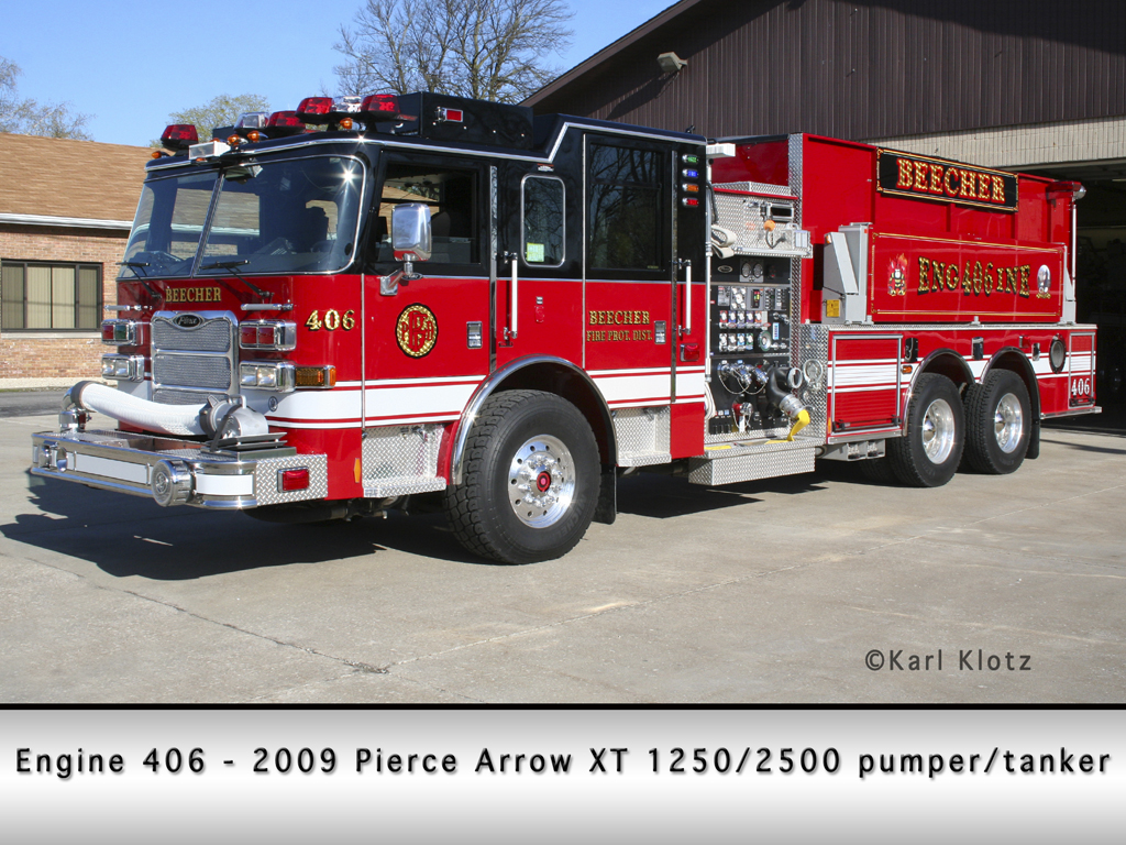 Beecher Fire Protection District Pierce Arrow XT pumper tanker