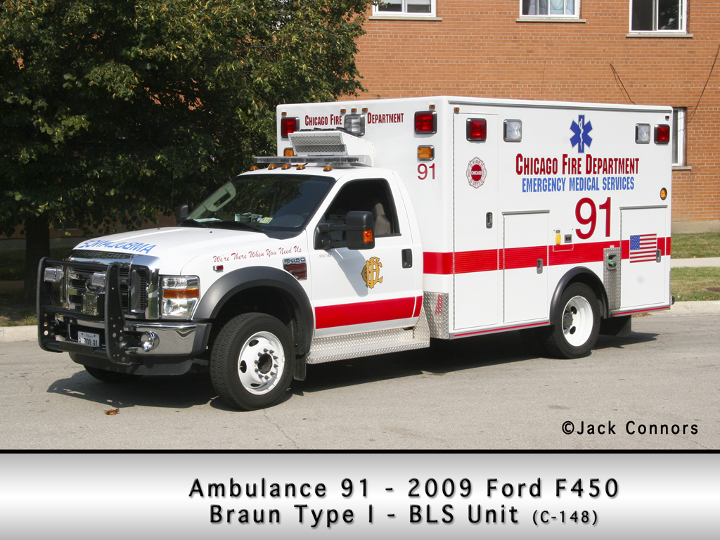 Chicago Fire Department Ambulance 91