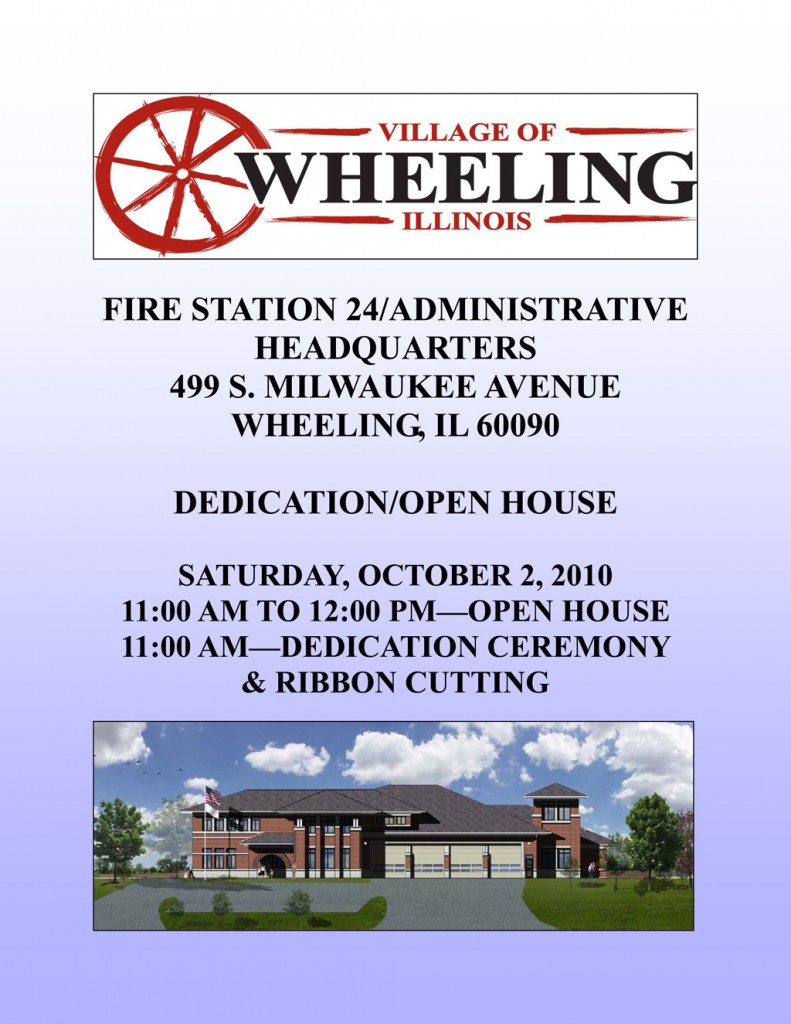 Wheeling Fire Department Station dedication