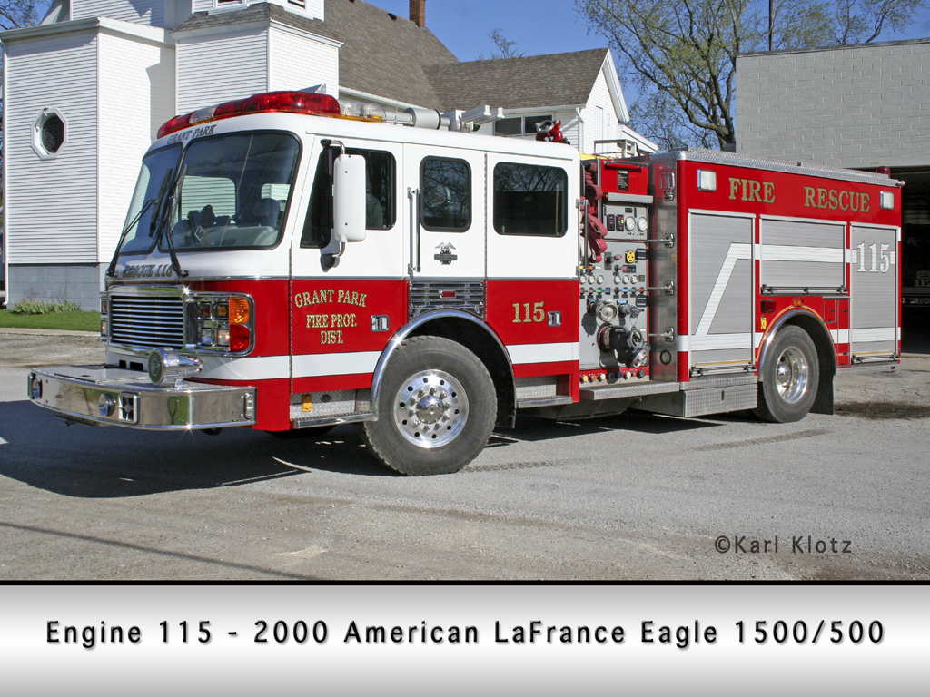 Grant Park Fire Department American LaFrance Eagle engine