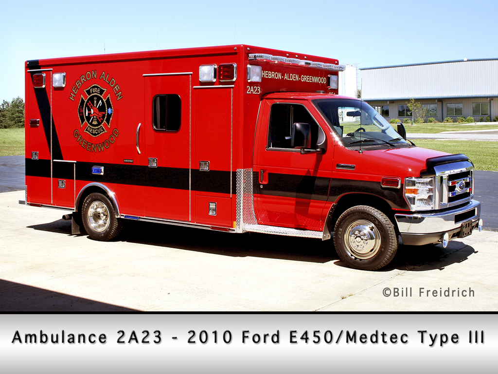 Hebron-Alden-Greenwood Fire Protection District Medtec ambulance