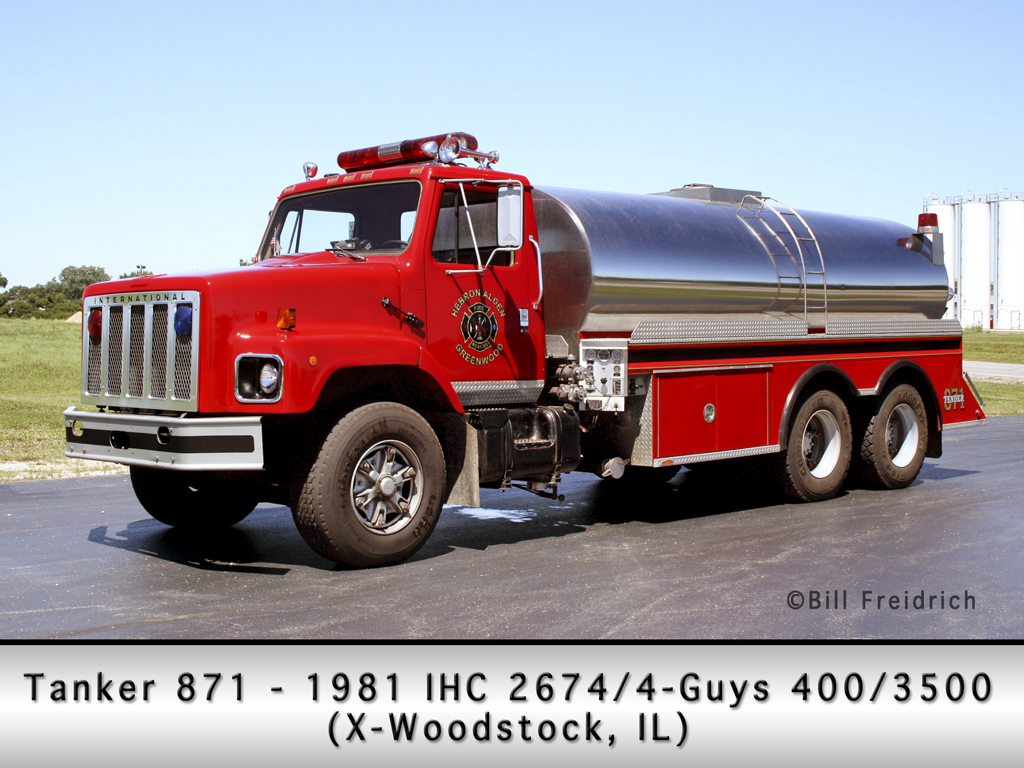 Hebron-Alden-Greenwood Fire Protection District IHC 4-Guys tanker