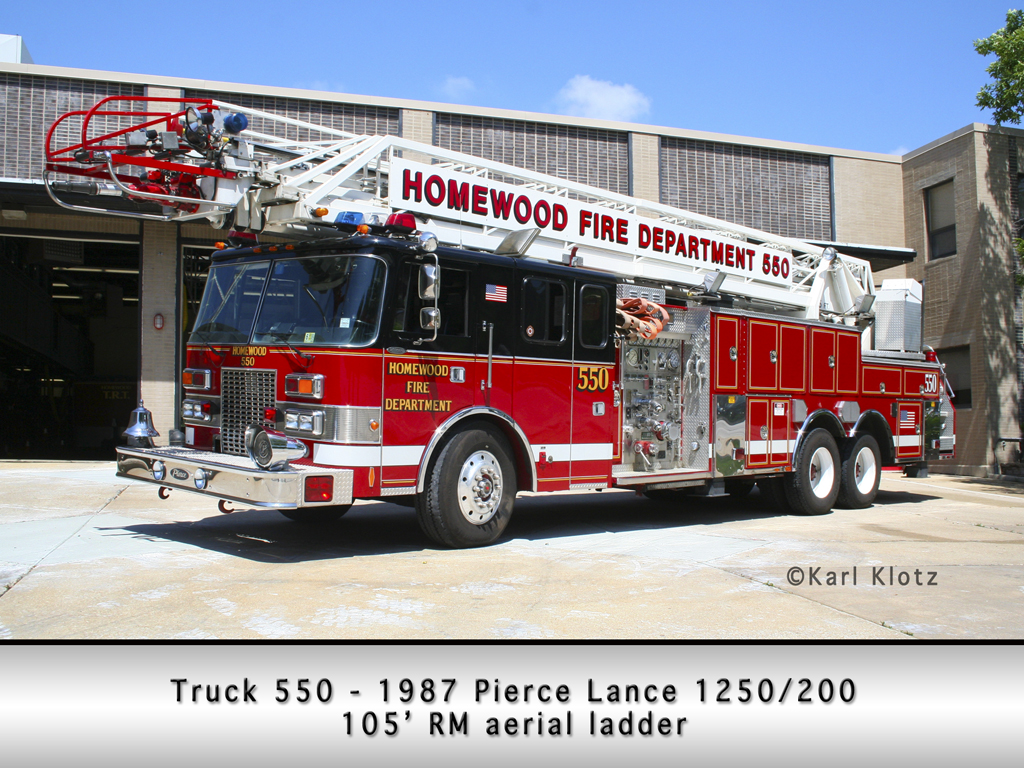 Homewood Fire Department Pierce Lance aerial