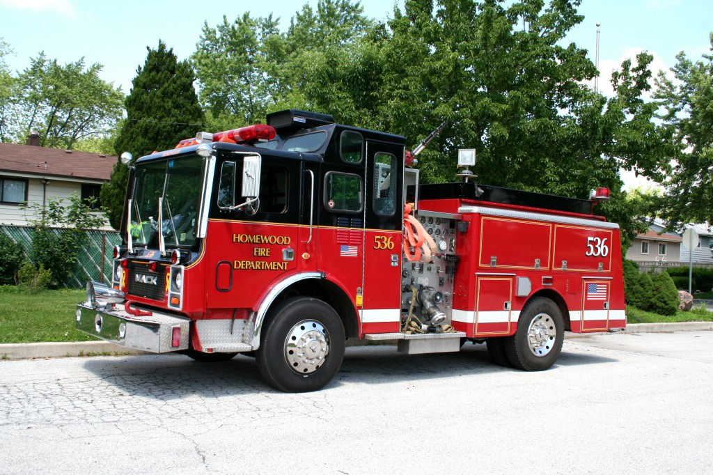 Homewood Fire Department Mack MR engine
