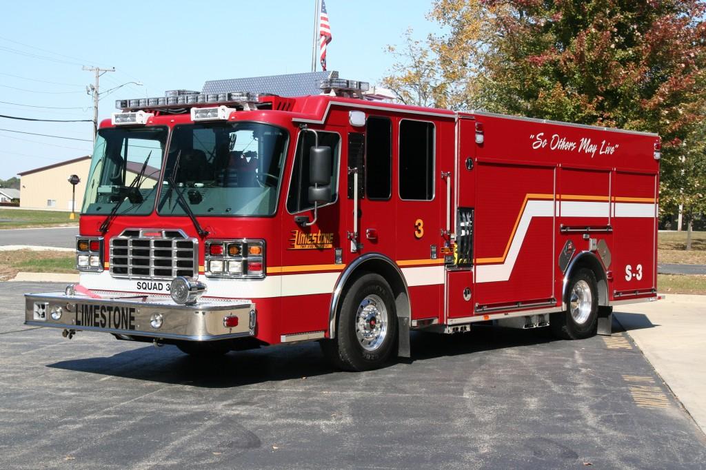 Limestone FPD Ferrara Inferno rescue pumper