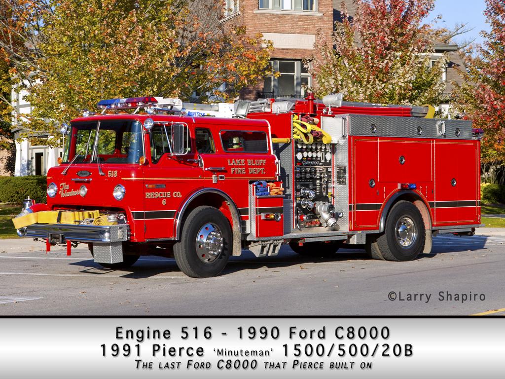 Lake Bluff Fire Department Ford C-8000 Pierce engine