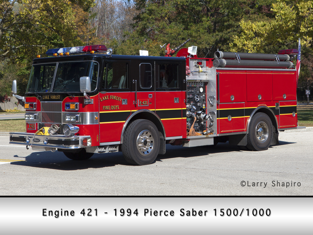 Lake Forest Fire Department Pierce Saber Engine 421