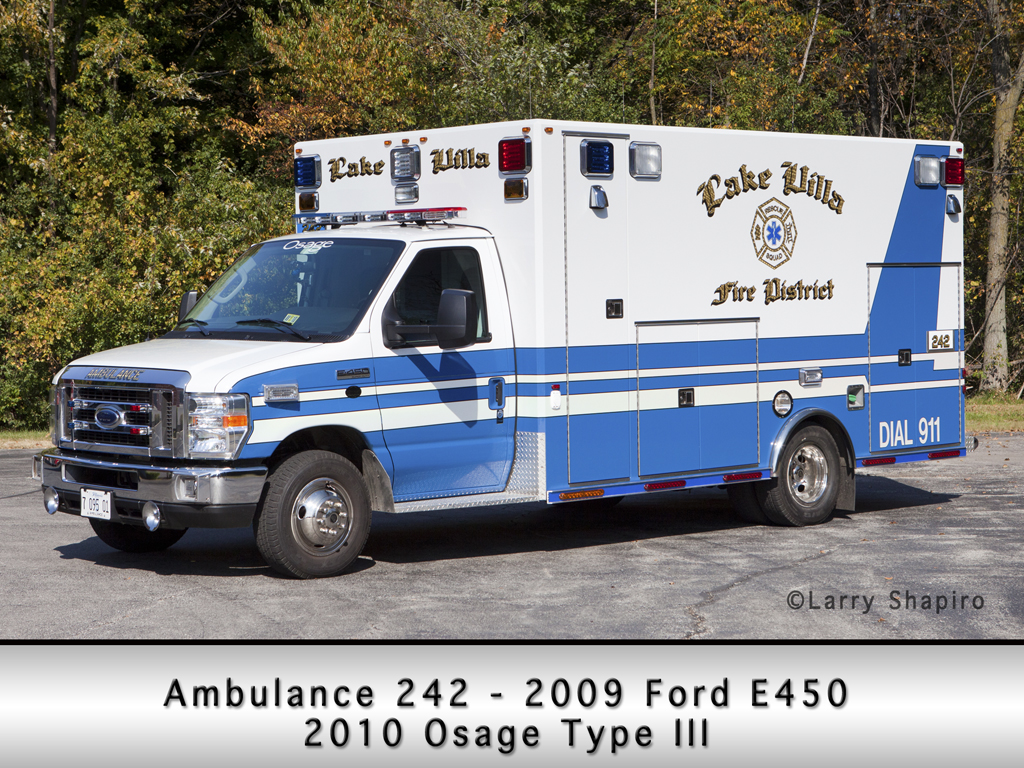Lake Villa Rescue Squad Ford Osage Type III ambulance