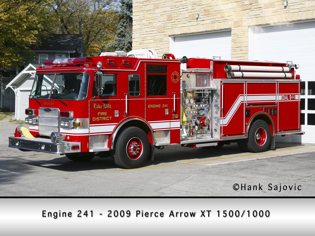 Lake Villa Fire Department Engine 241 Pierce Arrow XT