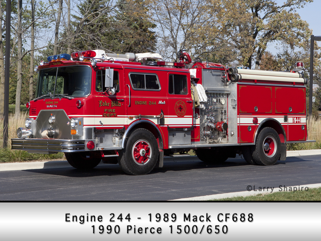 Lake Villa Fire District Mack CF Pierce engine